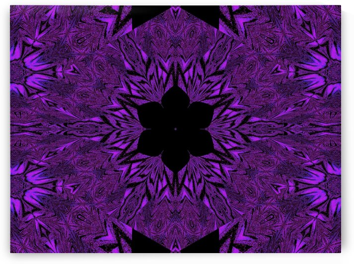 Black Purple Lotus 3 by Sherrie Larch