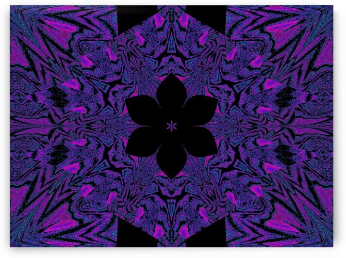 Black Purple Lotus 4 by Sherrie Larch