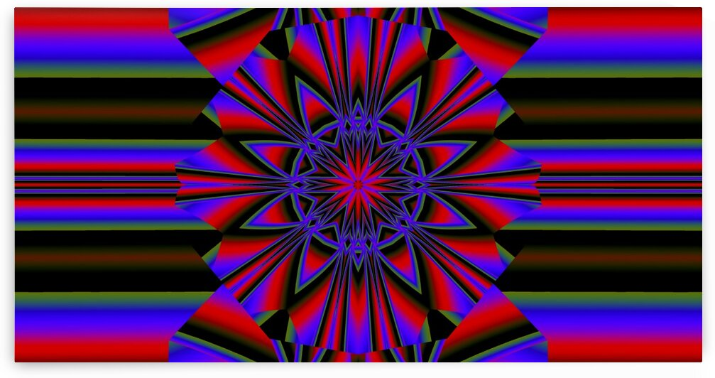 Red Psychedelic Lotus by Sherrie Larch