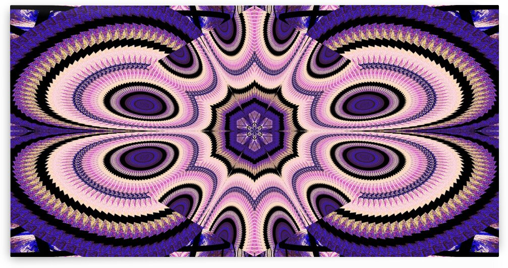 Zig Zag Purple And Pink Lotus by Sherrie Larch