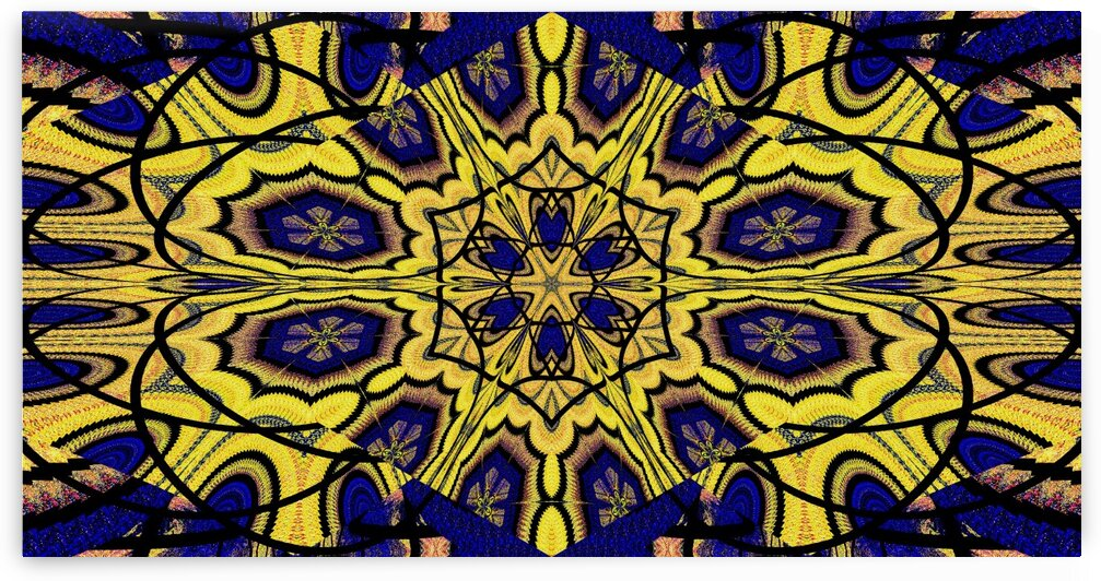Yellow Lotus In Zig Zag by Sherrie Larch
