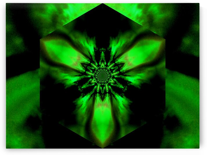 Fire Lotus Green 1 by Sherrie Larch