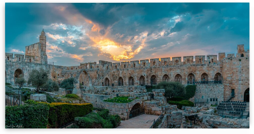 Tower of David at sunset by Oriel ben yitzhak