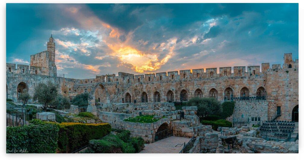 Tower of David at sunset by Oriel ben yitzhak