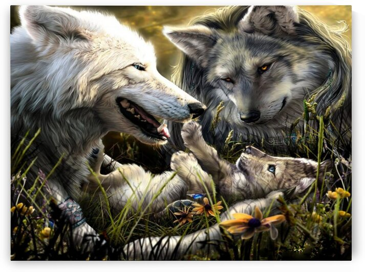 Wolf Family by Coolbits Art