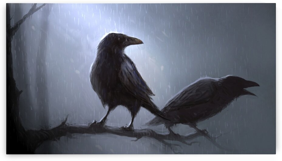 Crows by Coolbits Art