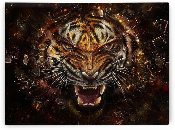 Tiger by Coolbits Art