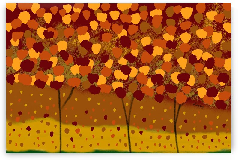 Autumn Abstract by Richa
