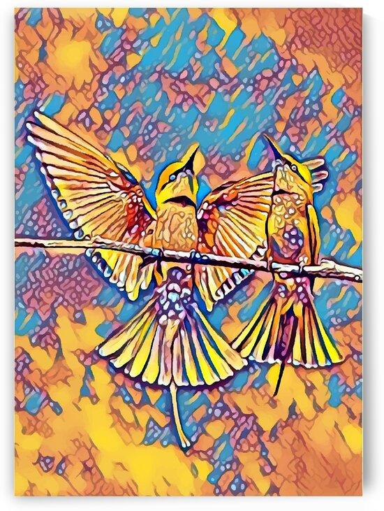 Jay Bird Yellow Blue Mix by Indian Unity Club