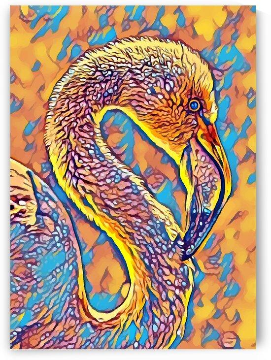 Flamingo 1 Yellow Blue Mix by Indian Unity Club