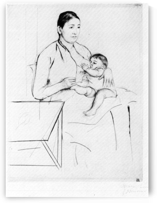Nursing by Cassatt by Cassatt