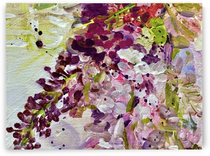 Lovely Lilacs by Lorraine Downey Art
