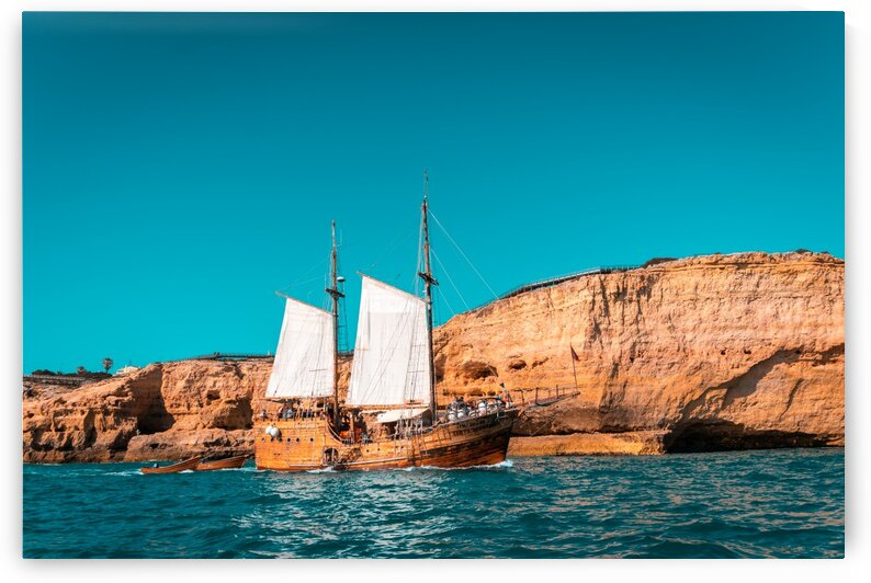 Colorful Coastal Sailing on an Old Wooden Tall Ship by GeorgiaM