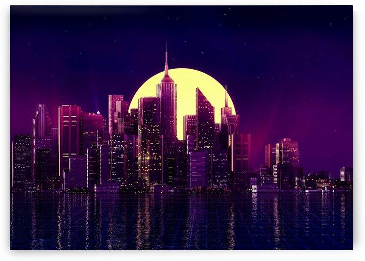 Moonlight Skyscraper by Coolbits Art