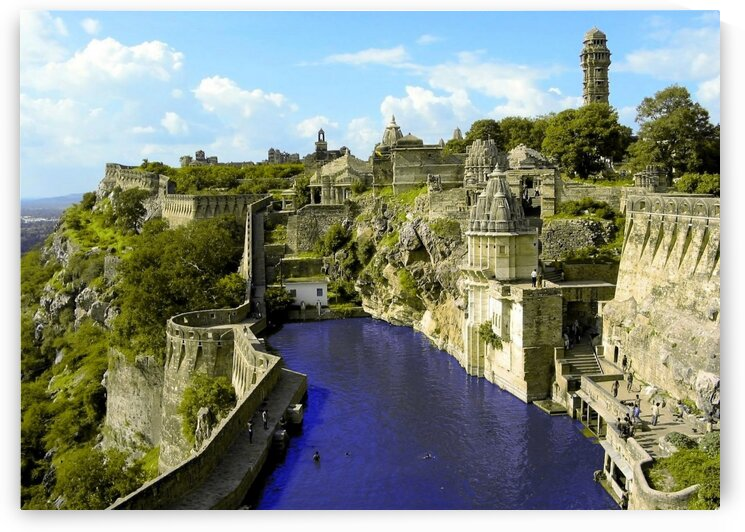 The Chittorgarh River City India by Coolbits Art