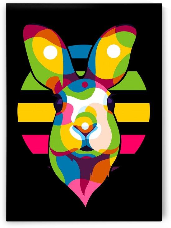 Colorful Cute Rabbit Portrait by wpaprint