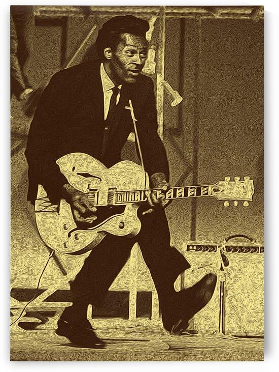 Chuck Berry Retro Vintage Poster 6 by RANGGA OZI