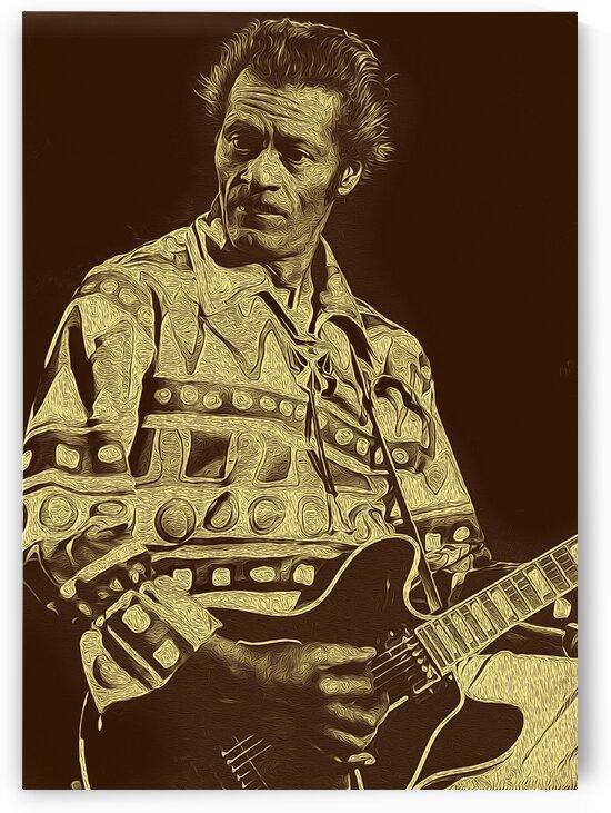 Chuck Berry Retro Vintage Poster 7 by RANGGA OZI