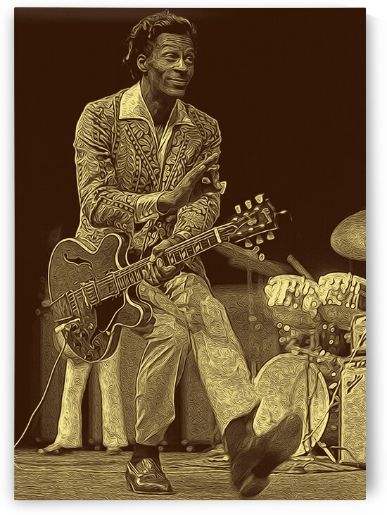 Chuck Berry Retro Vintage Poster 11 by RANGGA OZI