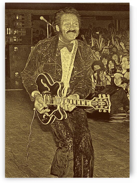 Chuck Berry Retro Vintage Poster  25 by RANGGA OZI