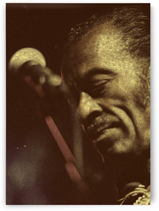 Chuck Berry Retro Vintage Poster 26 by RANGGA OZI