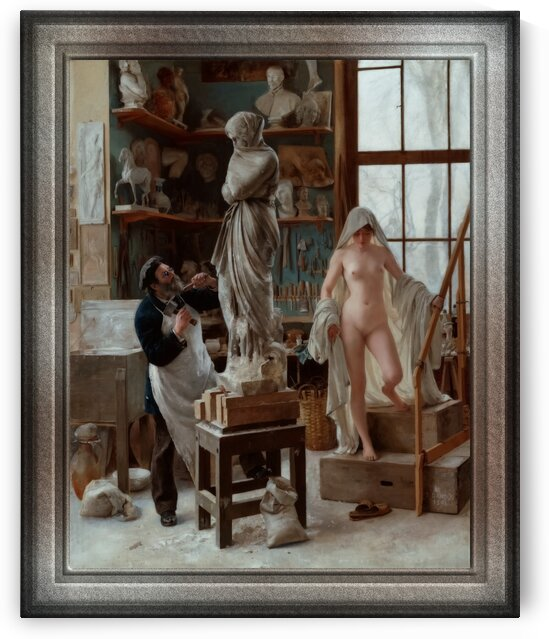A Restoration by Edouard Joseph Dantan Classical Art Old Masters Reproduction by xzendor7