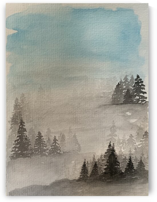 Trees in the Mist by Clark Fine Art
