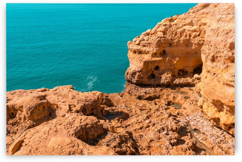 Rough Beauty - Carvoeiro Cliffs and the Ocean in Algarve Portugal by GeorgiaM