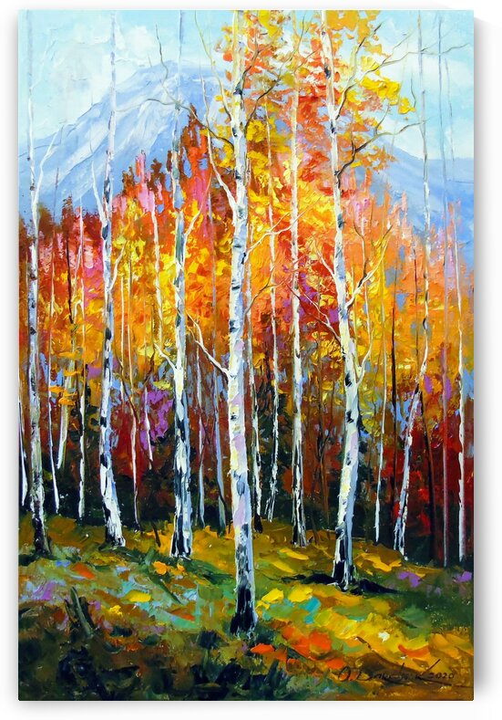 Birches by the mountains by Olha Darchuk