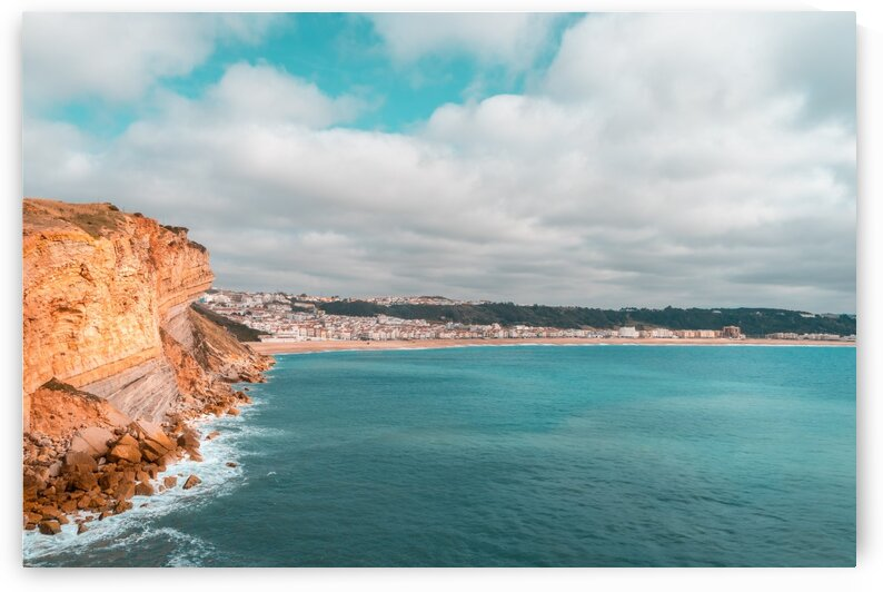 Colorful Coast in Teal and Orange at Nazare Portugal  by GeorgiaM
