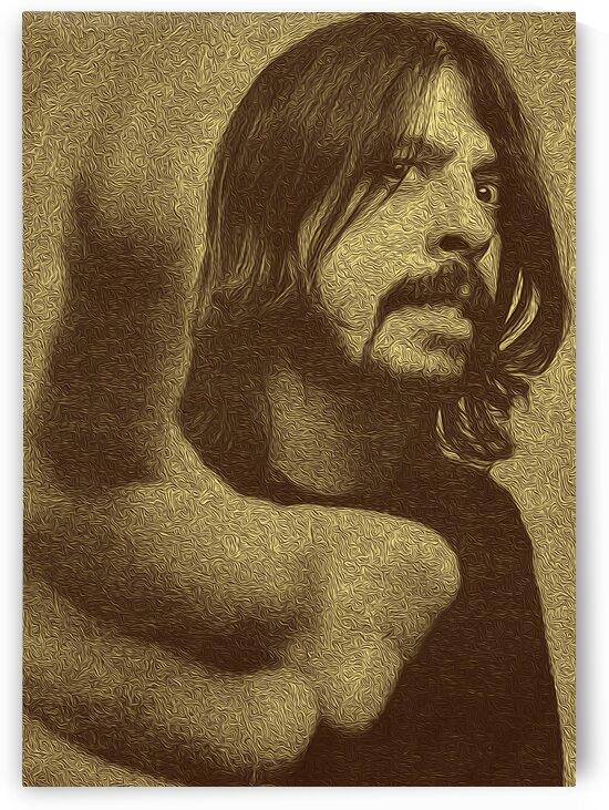 Dave Grohl Retro Vintage Art 3 by RANGGA OZI