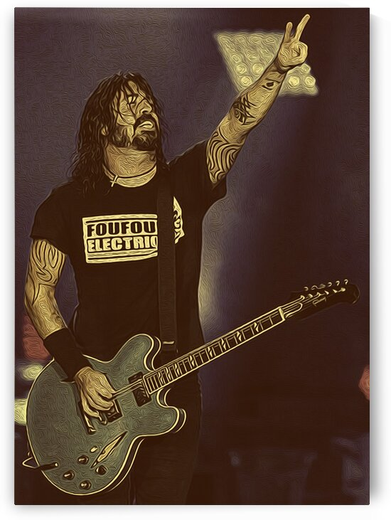 Dave Grohl Retro Vintage Art 19 by RANGGA OZI