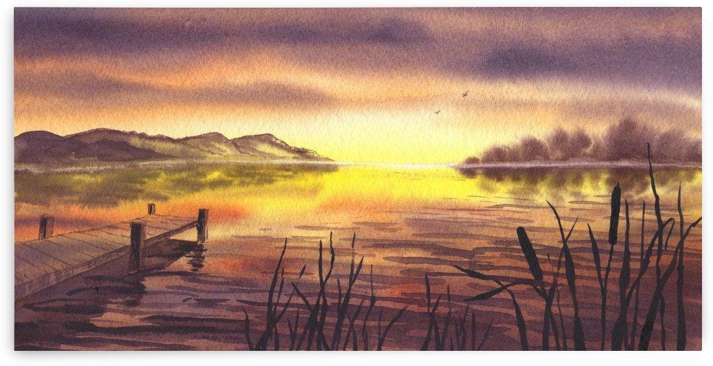 Peaceful Sunset At The Lake by Irina Sztukowski