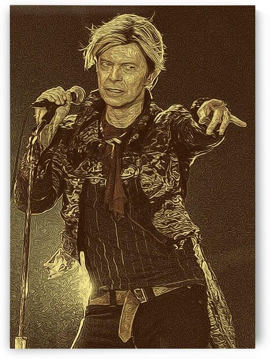 David Bowie Retro Vintage Oil Painting 3 by RANGGA OZI
