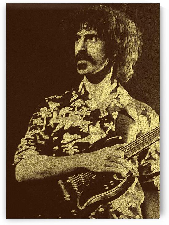 Frank Zappa Oil Painting 12 by RANGGA OZI