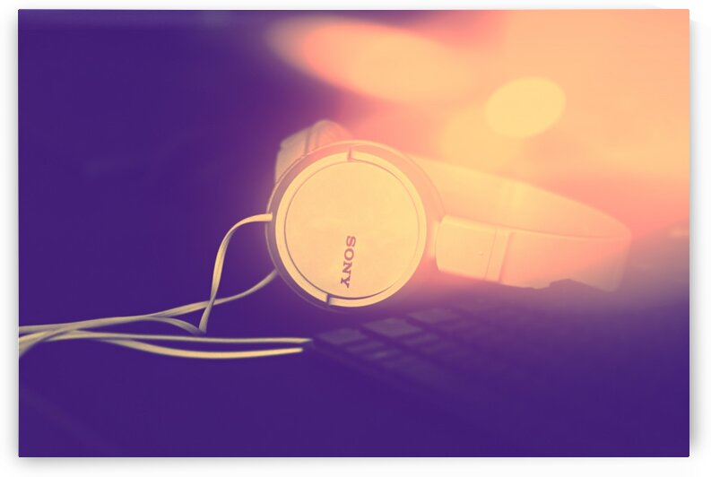 Sony Headphones by a Keyboard by maniacvii