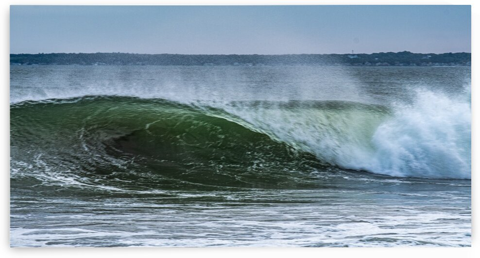 Pine Point Waves from Hurricane Teddy by Dave Therrien