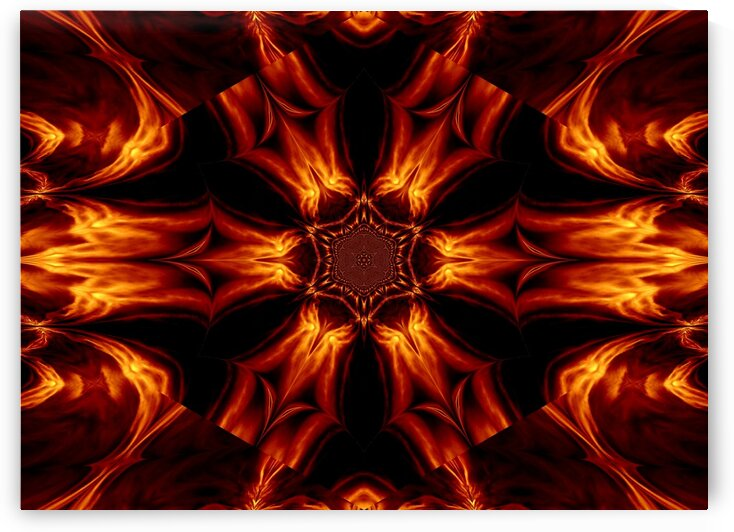 Eternal Flame Flowers 2 by Sherrie Larch