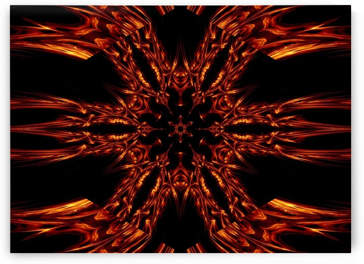 Eternal Flame Flowers 3 by Sherrie Larch