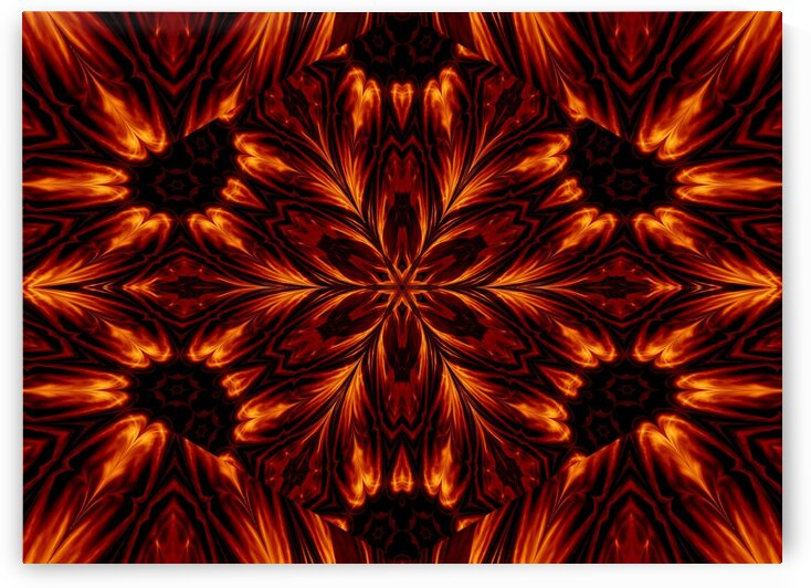 Eternal Flame Flowers 27 by Sherrie Larch