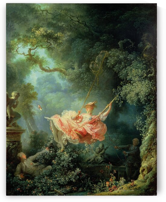 Joean Honor Fragonard: The Swing HD 300ppi by Stock Photography