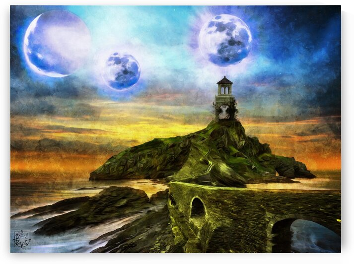 Blue Moons by ChrisHarrisArt