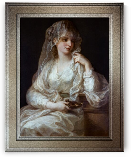 Portrait of a Lady as a Vestal Virgin by Angelika Kauffmann Classical Art Reproduction by xzendor7