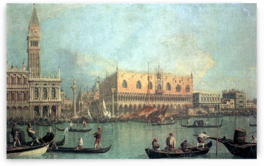 Palazzo Ducale by Canaletto by Canaletto