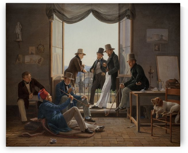 A company of Danish artists in Rome by Martinus Christian Wesseltoft Rorbye