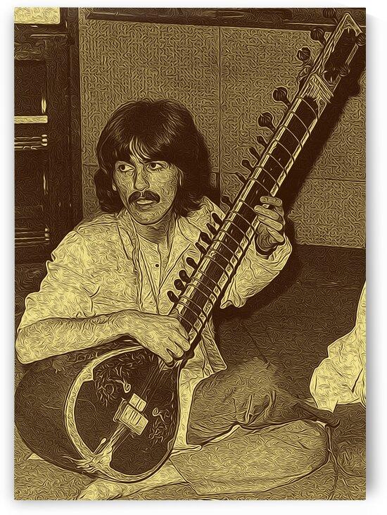 George Harrison Guitarist of the Beatles 11 by RANGGA OZI