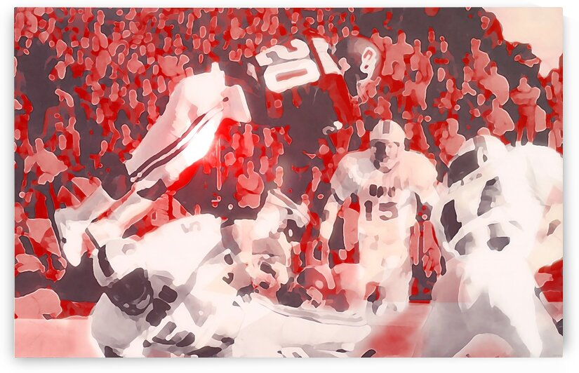 1985 Spencer Tillman Oklahoma Touchdown Leap by Row One Brand