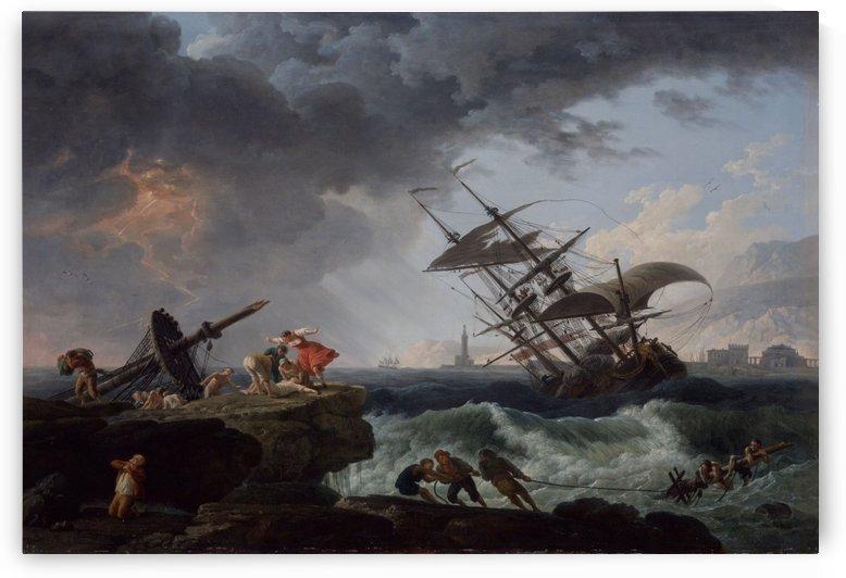 A Shipwreck on a Rocky Coast by Claude-Joseph Vernet