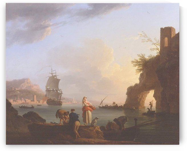 The Happy Fishing by Claude-Joseph Vernet