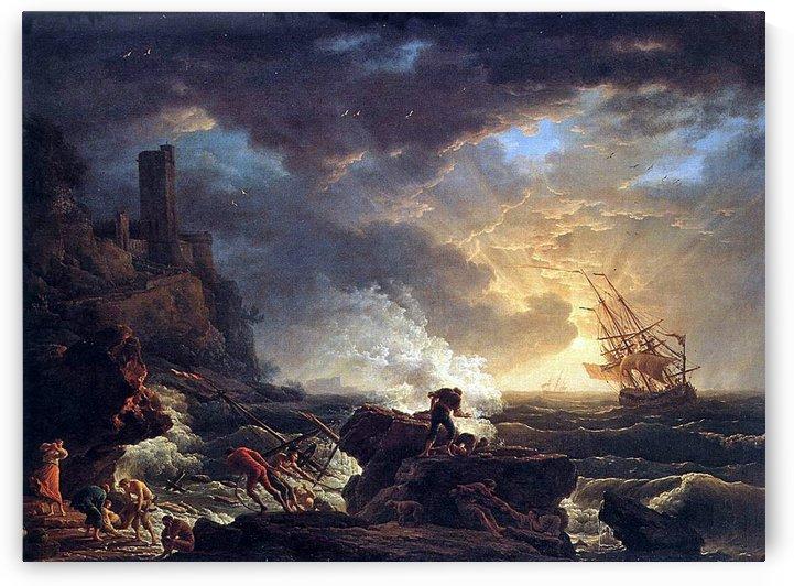 Shipwreck by Claude-Joseph Vernet